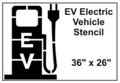 EV Electric Vehicle Charging Station Stencil
