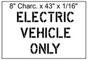 """8"""" Electric Vehicle Stencil"""
