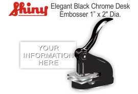 Elegant Black Chrome Desk Embosser Elegant Desk Embosser - Black