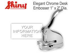 Elegant Chrome Embosser 