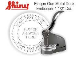 Elegant Gun Metal Desk Embosser Elegant Desk Embosser - Gun Metal