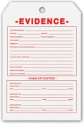 Evidence ID Only Tags - 100 tags/pkg