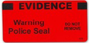 "Red Evidence Warning Police Seal - ""Evidence"" - 100/roll"