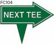 """Next Tee Arrow Golf Sign with Integrated Spike (10"""" x 8"""")"""