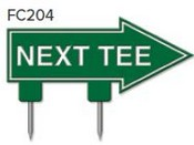 "Next Tee Arrow Golf Sign with Integrated Spike (12"" x 6"")"