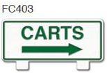 Carts Right Arrow Golf Sign