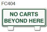 No Carts Beyond Here Golf Sign