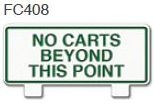 No Carts Beyond This Point Golf Sign