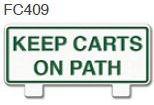 Keep Carts On Path Golf Sign