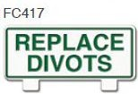 Replace Divots Golf Sign