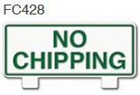 No Chipping Golf Sign