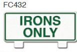 Irons Only Golf Sign