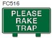 Please Rake Trap Golf Sign