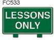 Lessons Only Golf Sign