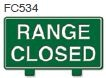 Range Closed Golf Sign