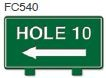 Hole 10 Left Arrow Golf Sign