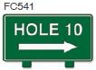 Hole 10 Right Arrow Golf Sign