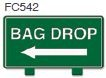 Bag Drop Left Arrow Golf Sign
