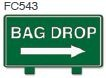 Bag Drop Right Arrow Golf Sign