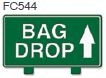 Bag Drop Up Arrow Golf Sign