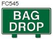 Bag Drop Golf Sign