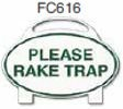 Please Rake Trap Golf Sign
