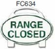 Range Closed Golf Sign