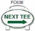 Next Tee Right Arrow Golf Sign