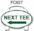 Next Tee Left Arrow Golf Sign