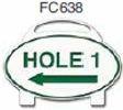 Hole 1 Left Arrow Golf Sign