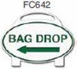 Bag Drop Left Arrow Golf Sign