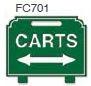 Carts Golf Sign