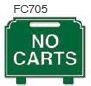 No Carts Golf Sign
