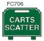 Carts Scatter Golf Sign