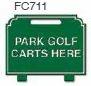 Park Golf Carts Here Golf Sign