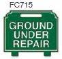 Ground Under Repair Golf Sign