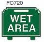 Wet Area Golf Sign
