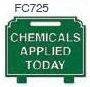 Chemicals Applied Today Golf Sign