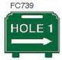 Hole 1 Right Arrow Golf Sign