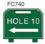 Hole 10 Left Arrow Golf Sign