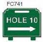 Hole 10 Right Arrow Golf Sign