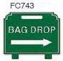 Bag Drop Right Arrow Golf Sign