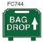 Bag Drop Up Arrow Golf Sign
