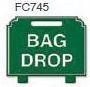Bag Drop Golf Sign
