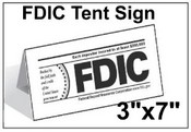 "3"" x 7"" FDIC Tent Tabletop Sign