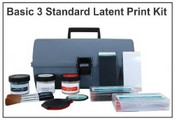 Basic 3 Standard Latent Print Kit - Hinged Lifters