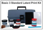 Basic 3 Standard Latent Print Kit - Tape & Backing Cards
