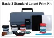 Basic 3 Standard Latent Print Kit - Tape & Backing Cards