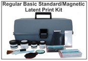 Basic 4 Standard/Magnetic Latent Print Kit - Hinged Lifters
