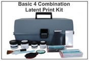 Basic 4 Combination Latent Print Kit - Tape & Backing Cards
